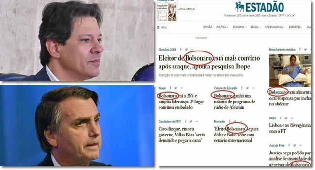 haddad bolsonaro eleições mídia globo estadão folha valor