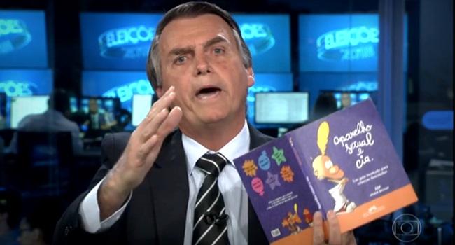 livro que Bolsonaro Jornal Nacional relançado aparelho sexual