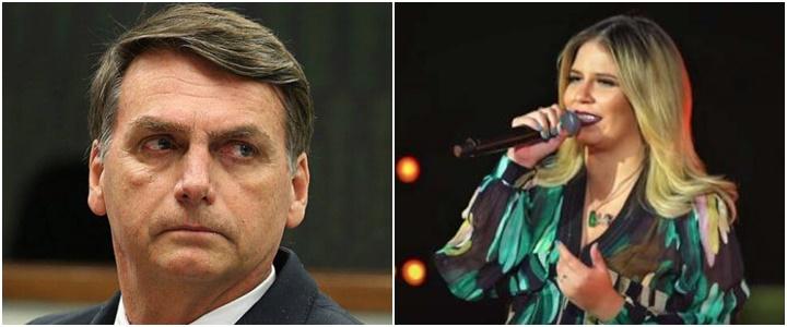 Jair Bolsonaro e Marília Mendonça