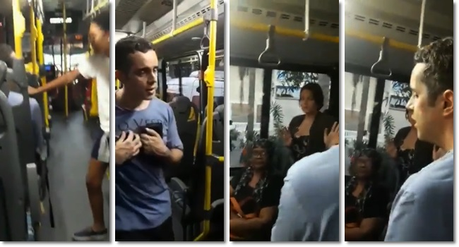 menina defende mulher assédio sexual em ônibus rio de janeiro