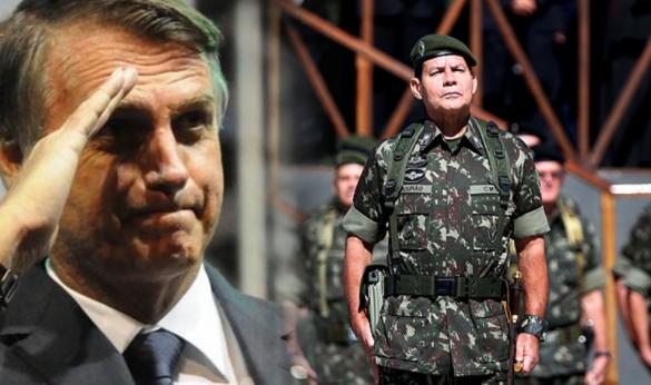 Capitão Bolsonaro e General Mourão