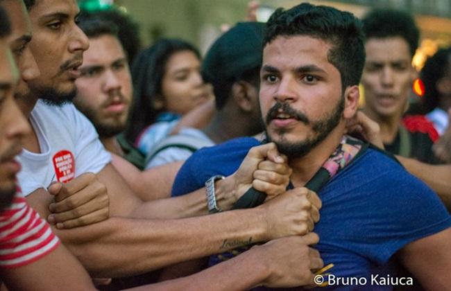 museu nacional mbl protesto provocar apanhando