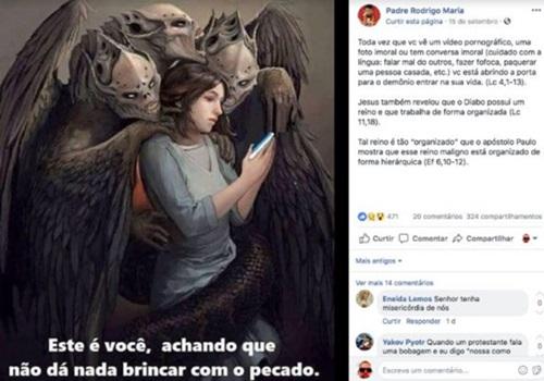 Padre abusou de freiras campanha para Bolsonaro