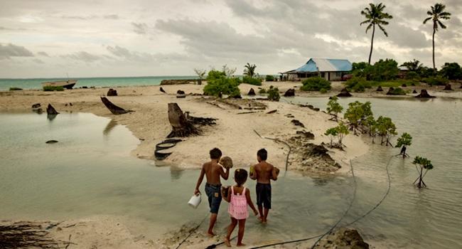 Kiribati país do mundo engolido oceano