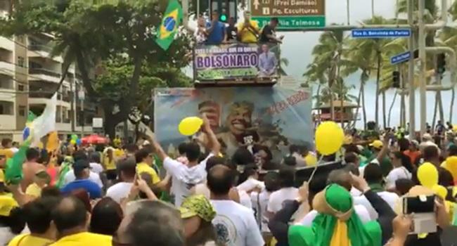 Passeata Bolsonaro mulheres de esquerda cadelas
