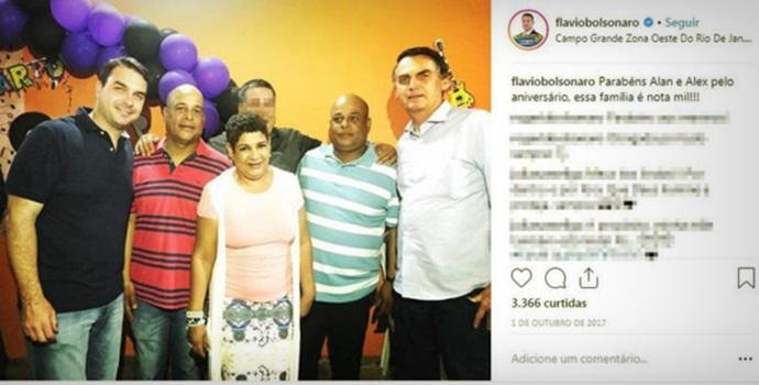 Policiais presos no RJ filho de Bolsonaro