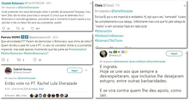 rachel sheherazade massacrada público direita bolsonaro justiceiros