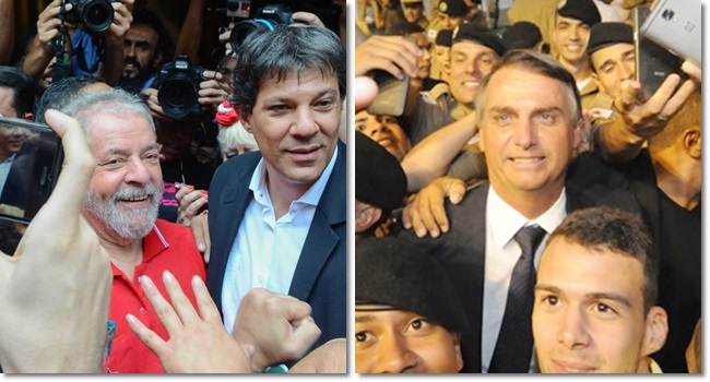 Segundo turno Haddad Lula Bolsonaro militares