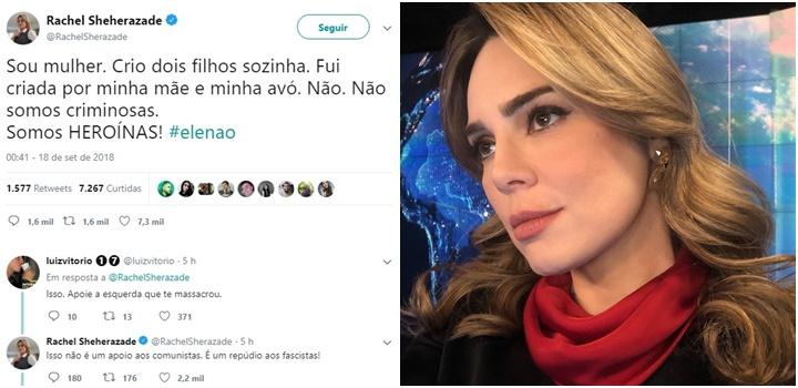 rachel sheherazade jair bolsonaro #elenão