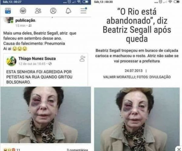 beatriz segall fake news