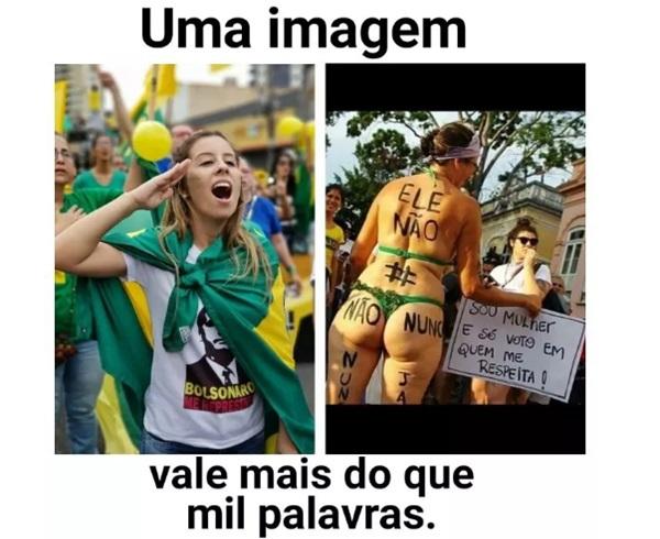 Bolsonaro cresceu mulheres #EleNão
