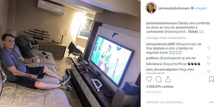 Bolsonaro foto ausência no debate da Globo eleições