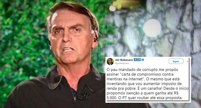 Bolsonaro fugiu combater fake news eleições 2018 internet