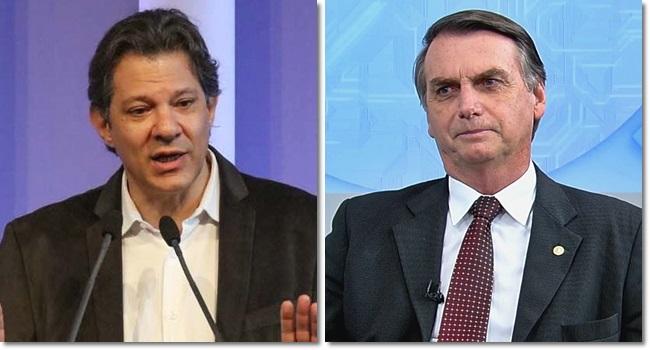 bolsonaro perde pontos pesquisa btg eleições 2018 haddad