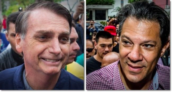 pesquisa BTG/FSB bolsonaro haddad eleições 2º turno
