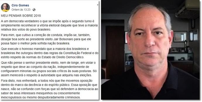 Ciro Gomes quer liderar oposição de esquerda sem o PT interesses mesquinhos