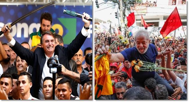 comparação risco Lula risco Bolsonaro eleições barbárie
