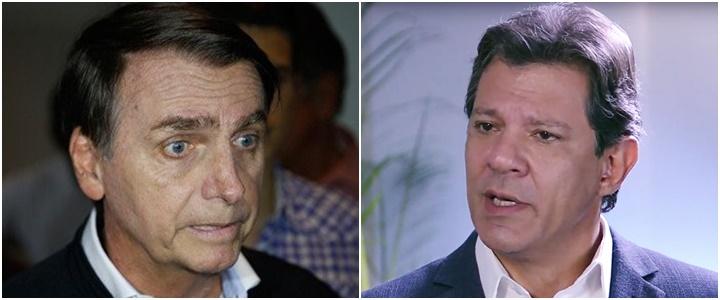Datafolha Bolsonaro Haddad