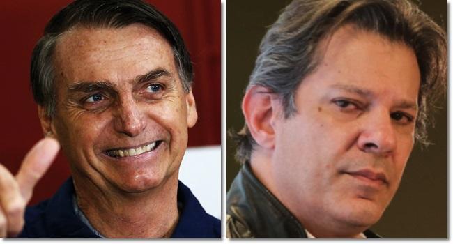 DataPoder360 vantagem Bolsonaro sobre Haddad eleições 2018 pesquisa