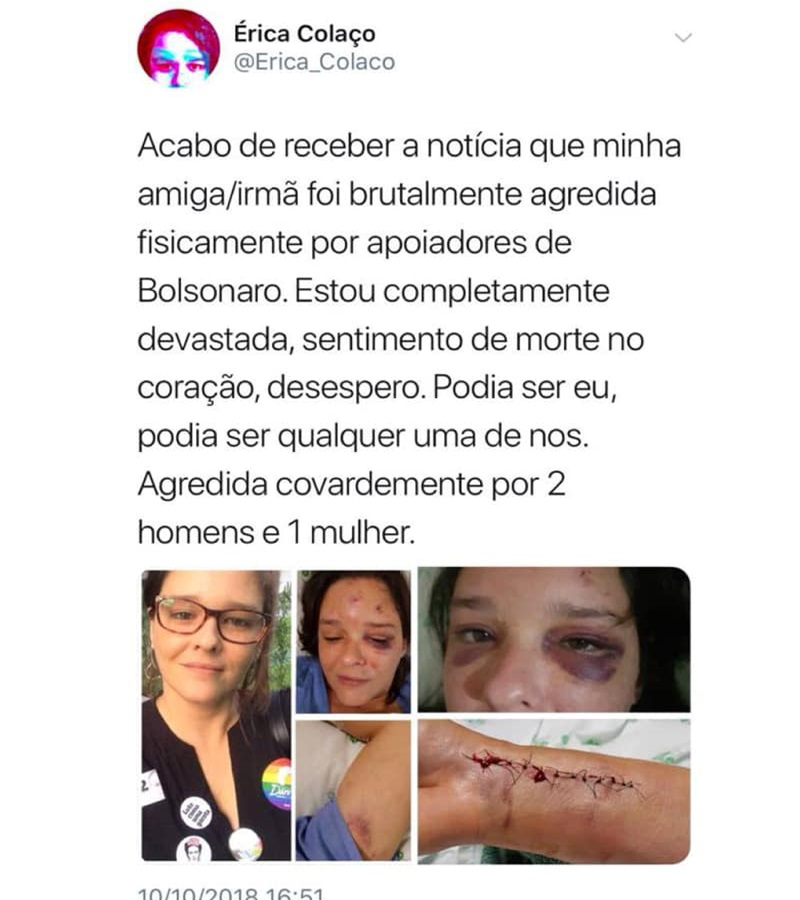 Eleitores de Bolsonaro se sentem legitimados para aniquilar opositores