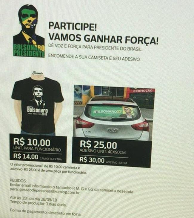 empresas Ministério Público coação pró-Bolsonaro exploração trabalhador eleições