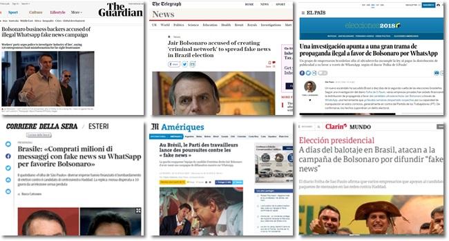 Fraude eleitoral de Bolsonaro imprensa internacional