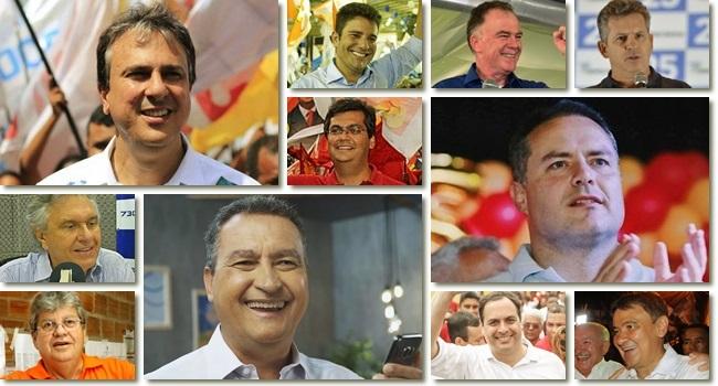 governadores eleitos eleições 2018 1º turno camilo rui costa paulo câmara Wellington Dias