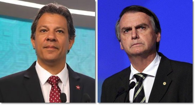 haddad e bolsonaro alvos debate record eleições 2018