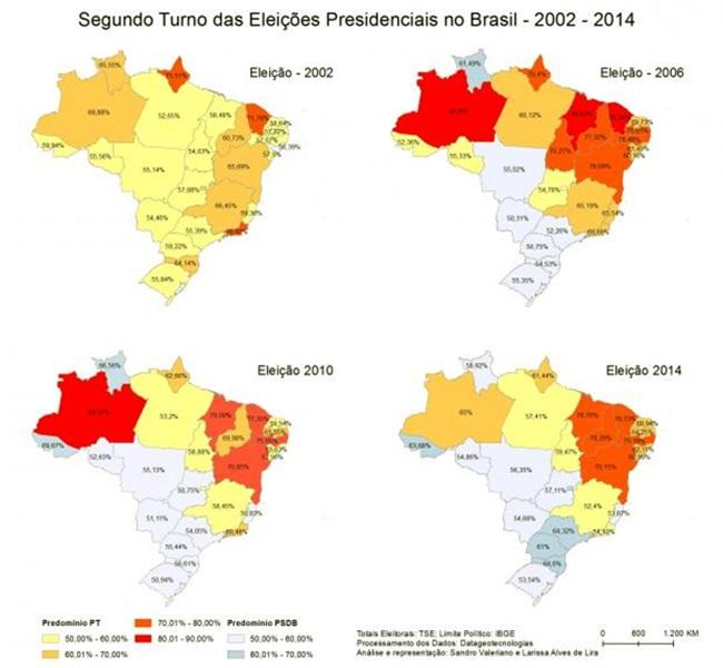 história disputas presidenciais no 2º turno desde 2002 PT Lula Dilma ódio