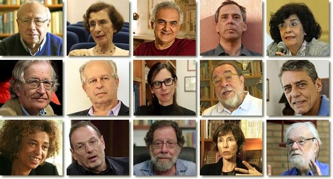 Intelectuais escritores manifesto pró-Haddad chico buarque noam chomsky