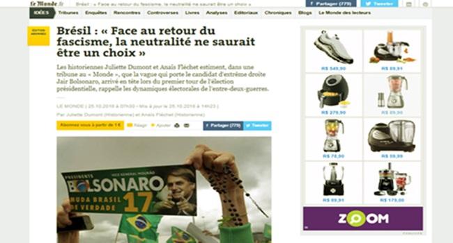 Le Monde Popularidade de Bolsonaro fascismo guerras na Europa