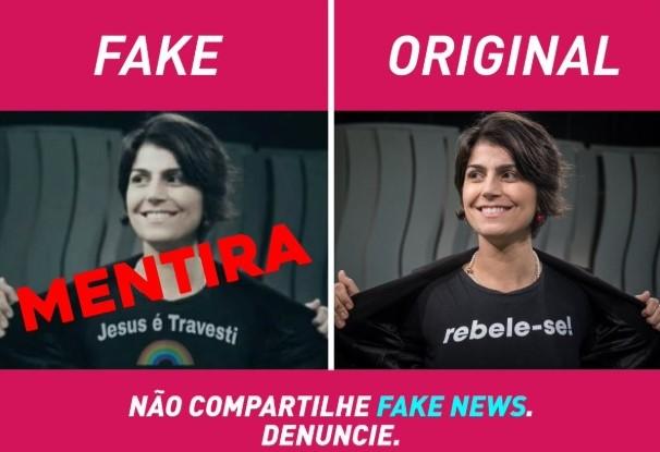 Manuela D'Ávila fake news imagens