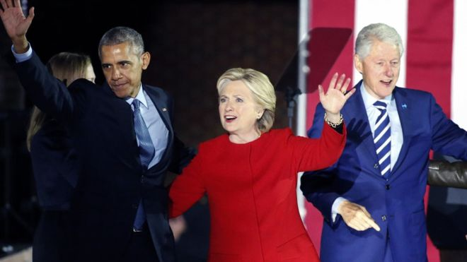 Obama Clinton artefatos explosivos