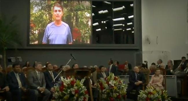 pastores vídeo de Bolsonaro voto em culto evangélico
