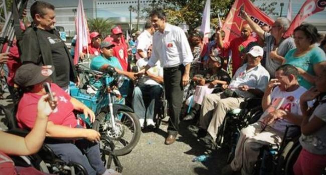 Pessoas com deficiência manifesto a favor de Haddad eleições 2018