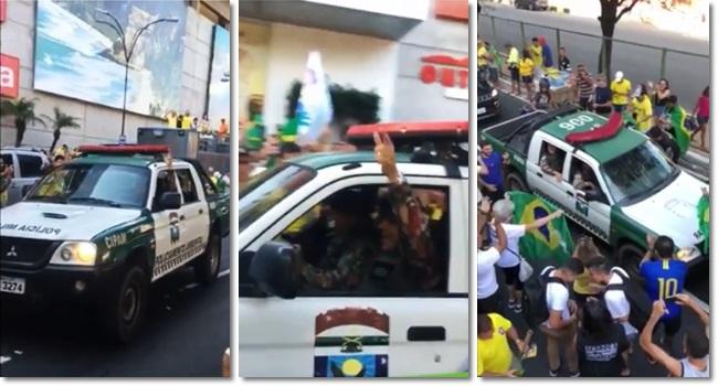 Policial viatura da PM apoiar Jair Bolsonaro rio grande do norte eleições