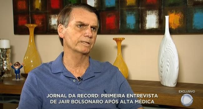 Record Bolsonaro pacificador unir o Brasil direita eleições