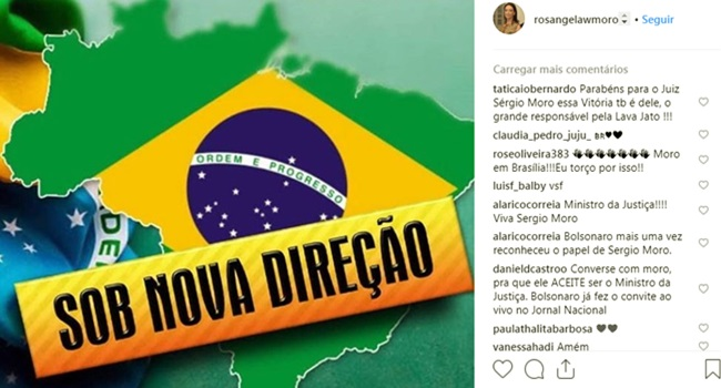 Rosângela Moro celebra vitória de Jair Bolsonaro