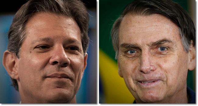 pesquisa XP/Ipespe 2º turno bolsonaro haddad eleições