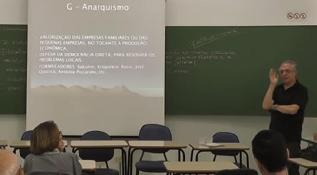 aula Ricardo Vélez ministro da Educação anarquia
