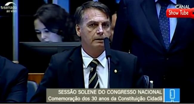 Bolsonaro faz 1º discurso no Congresso como presidente eleito constituição federal