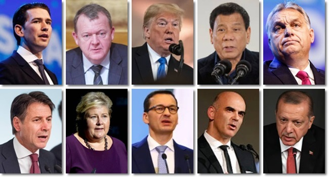 brasil bolsonaro países elegeram populistas de direita itália Áustria Dinamarca Suécia Noruega
