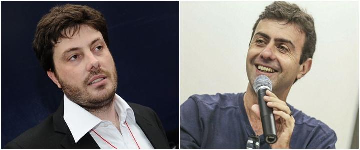 Danilo Gentili e Marcelo Freixo