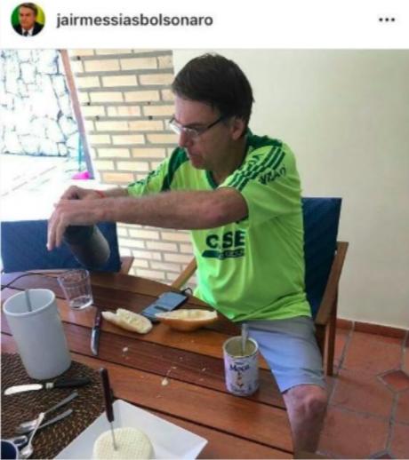 Globo vergonha alheia notícia pão à Bolsonaro