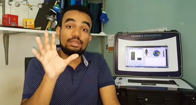 Jovem brasileiro comunicação pacientes em coma