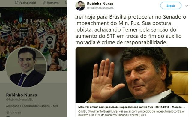 MBL impeachment ministro Luiz Fux auxílio-moradia stf congresso