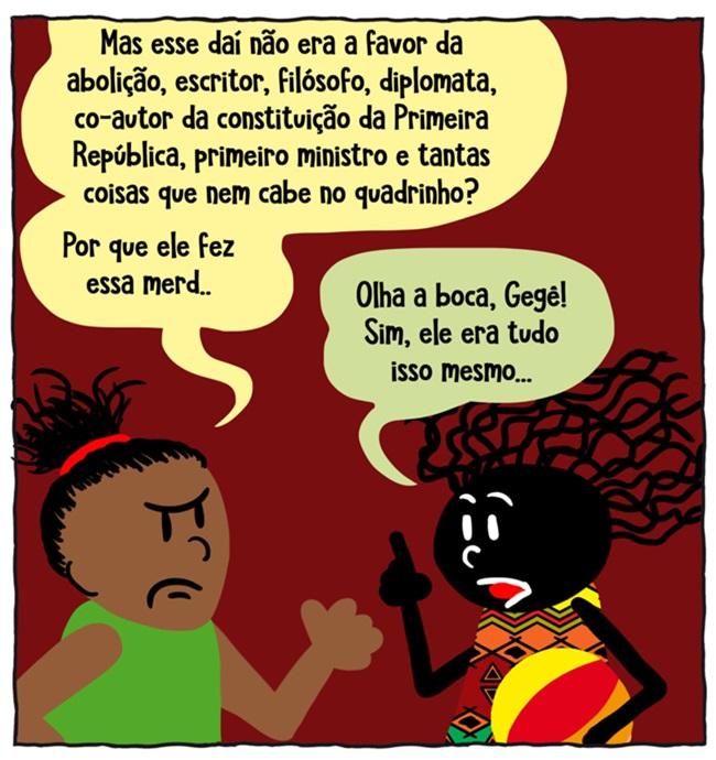 quadrinho racismo Rui Barbosa mundo caiu na minha cabeça