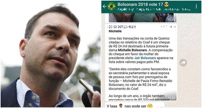 Flávio Bolsonaro grupo de WhatsApp