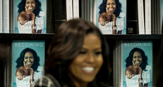 Livro Michelle Obama recorde de vendas eua literatura minha história