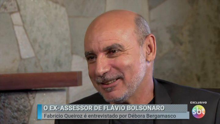 Fabrício Queiroz entrevista SBT